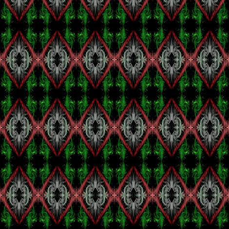 Abstract Holiday Wreaths fabric by eve_catt_art on Spoonflower - custom fabric