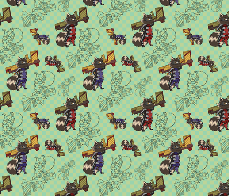 Green Rocket fabric by ineffectivecarnivore on Spoonflower - custom fabric