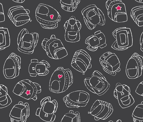 Backpack to School fabric by main+grey on Spoonflower - custom fabric