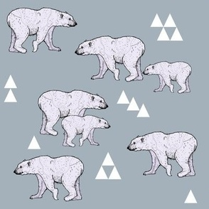 Purple Polar Bears and Triangles