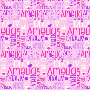 Personalised Name Design - Purple Pinks Hearts