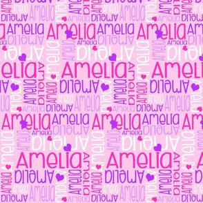 Personalised Name Design - Purple Pinks Hearts