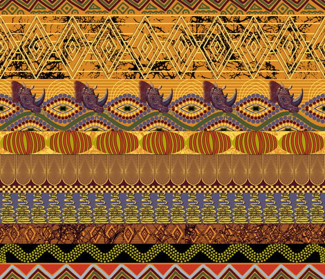 African Autumn using 501624   fabric by house_of_heasman on Spoonflower - custom fabric