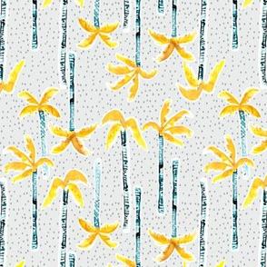 Tropicana Palms SMALL (grey/gold)