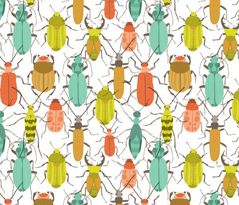 Beetles fabric by lamai on Spoonflower - custom fabric