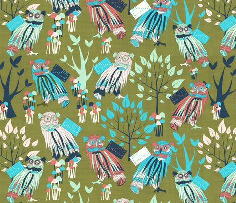 back to school fabric by kociara on Spoonflower - custom fabric
