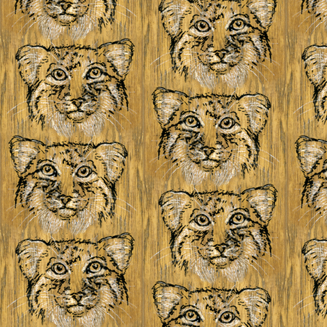 Hickory Pallas Cat fabric by eclectic_house on Spoonflower - custom fabric