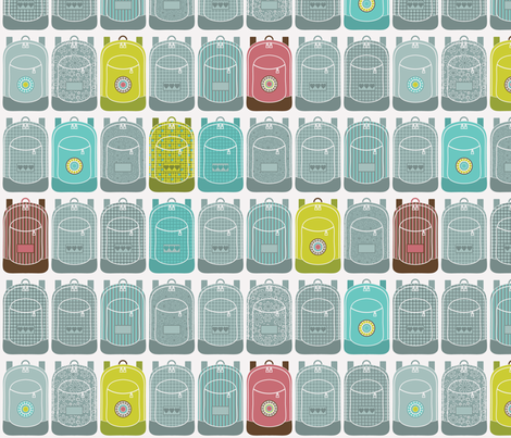 Backsack, Ruckpack, Backpack, Rucksack fabric by ebygomm on Spoonflower - custom fabric