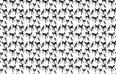 Black and White Horses fabric by katrina_ward on Spoonflower - custom fabric