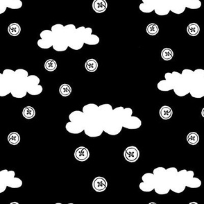 Rain-clouds and buttons