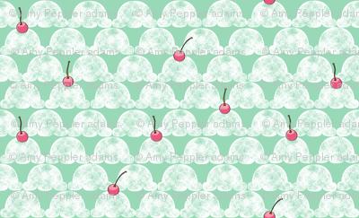 Cherry on Top (Mint) || ice cream cone summer sweet treat distressed rubber stamp cherry cherries pastel kids children baby nursery