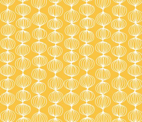 mod ogee - yellow orange fabric by kristinnohe on Spoonflower - custom fabric