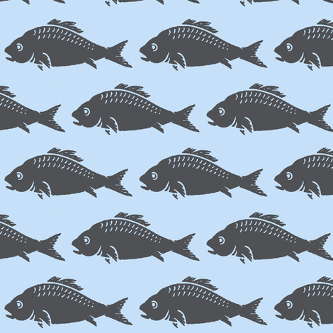 Fish fabric by boris_thumbkin on Spoonflower - custom fabric
