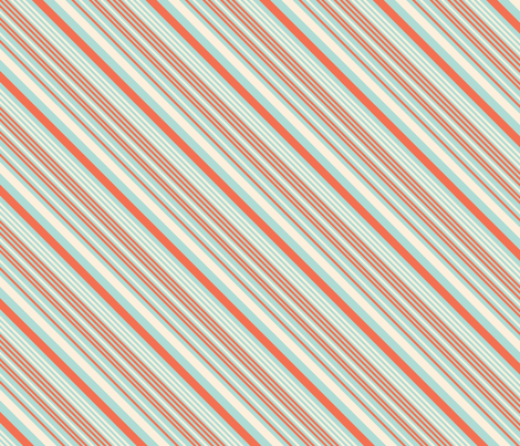 LaraGeorgine_Variegated_Stripe_Blues_Coral fabric by larageorgine on Spoonflower - custom fabric