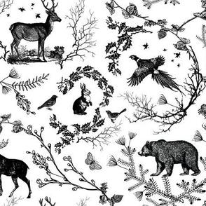Winter Toile(black and white)