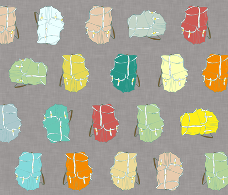 backpacks_colorful_linen fabric by mon:ambi:tion on Spoonflower - custom fabric