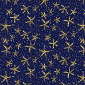 Sparkly stars on navy blue