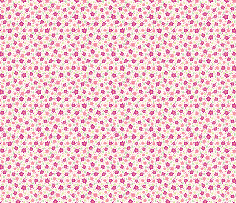 Pink flowers fabric by stewsha on Spoonflower - custom fabric