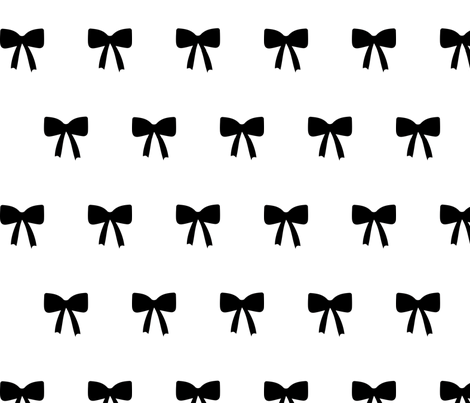 Bows black on white