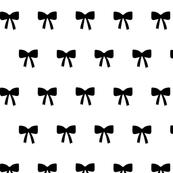 Bows black on white