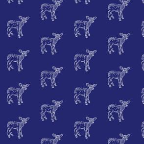 Dear Deer Navy Blue