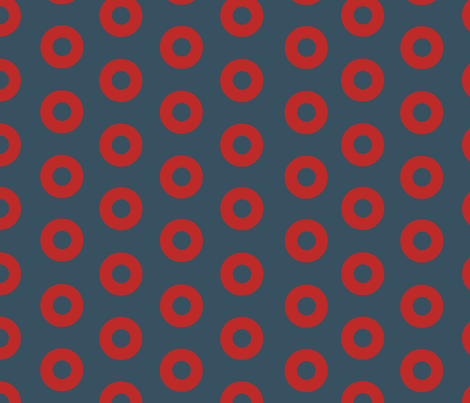 Fishman Donuts 2.0 slightly smaller fabric by gmwetzel on Spoonflower - custom fabric