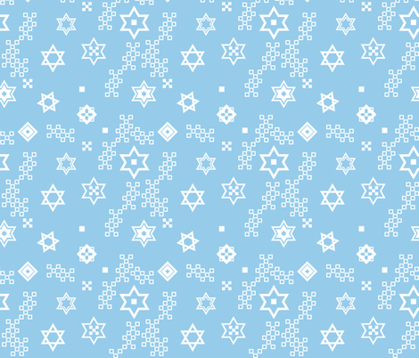 star of David - variation fabric by isabella_asratyan on Spoonflower - custom fabric