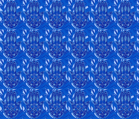 hamsa hand fabric by isabella_asratyan on Spoonflower - custom fabric