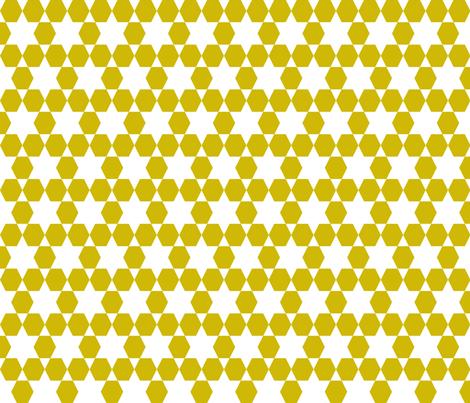 Hexagons  - Golden by Andrea Lauren fabric by andrea_lauren on Spoonflower - custom fabric