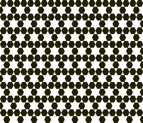 Hexagons - by Andrea Lauren fabric by andrea_lauren on Spoonflower - custom fabric