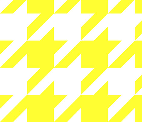 the houndstooth check ~ Daffodilly ~ 4 inch checks fabric by peacoquettedesigns on Spoonflower - custom fabric