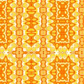 Bright Yellow & Orange Abstract Sunshine Pattern