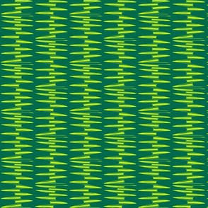 Yellow Spikes on Green