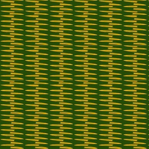 Gold Spikes on Green