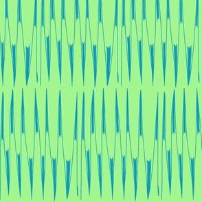Aqua Spikes on Green