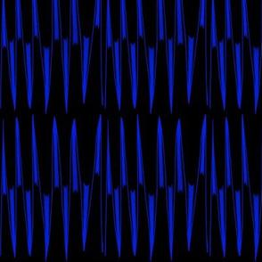 Royal Blue Spikes on Black