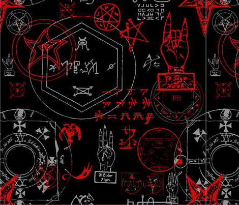 Necronomicon fabric by tag_graphics on Spoonflower - custom fabric