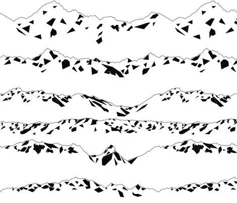 Rgeometric_mountains_bw._shop_preview