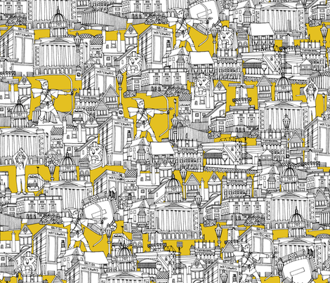NOTTINGHAM YELLOW fabric by scrummy on Spoonflower - custom fabric