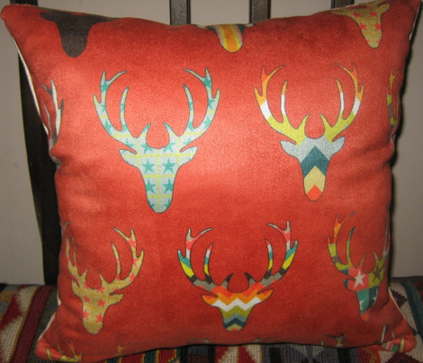 retro deer head russet