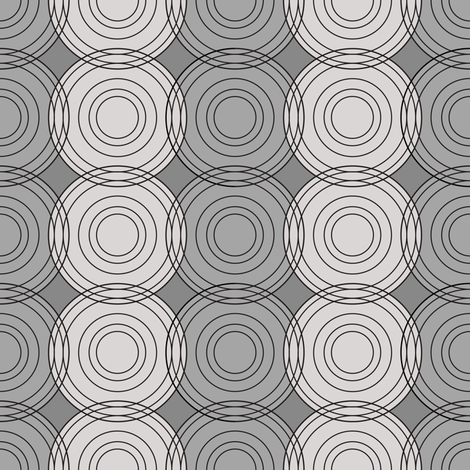 gray circles fabric by johannak on Spoonflower - custom fabric