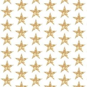Shiny bright Golden Sparkle Glitter Stars Paris Bebe