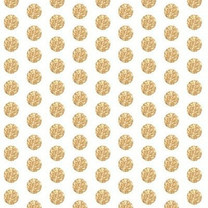 Sparkly Golden Glitter Polka Dots