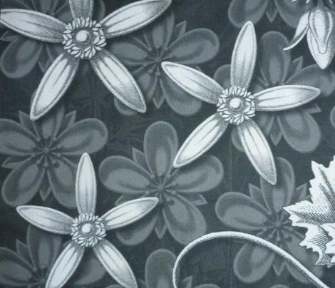 leaf quilt blocks greys