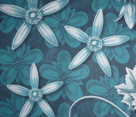 leaf quilt  blocks blue