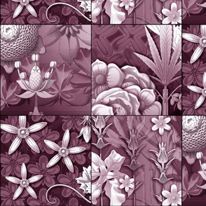 leaf quilt blocks mauve