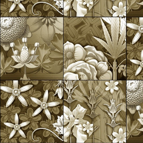 leaf quilt  blocks tan