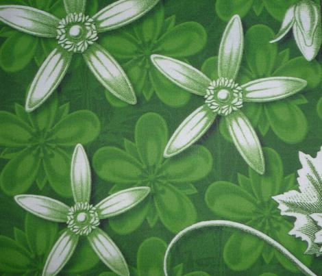 leaf quilt blocks green