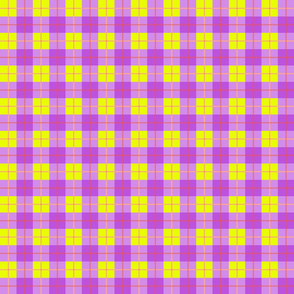 Purple and Yellow Gingham Check