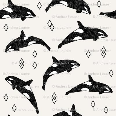 orca whales // ocean water kids nautical summer kids